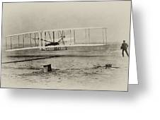 Wright Brothers - First In Flight Greeting Card
