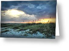 Wrightsville Beach South End Sunset Greeting Card