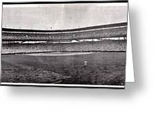 Wrigley Field 1929 Panorama Greeting Card by Benjamin Yeager