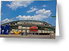 Wrigley Field And Clouds Greeting Card
