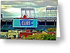 Wrigley Field Chicago Cubs Greeting Card