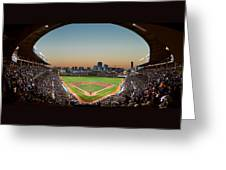 Wrigley Field Night Game Chicago Greeting Card