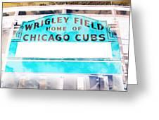 Wrigley Field Sign - X-ray Greeting Card
