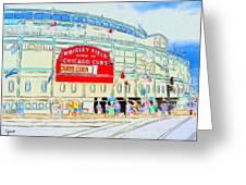 Wrigley Field Sketch Greeting Card