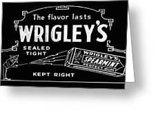 Wrigleys Spearmint Gum Greeting Card