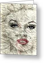 wrinckled Marilyn Greeting Card