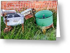 Wringer Washer And Laundry Tub Greeting Card