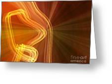 Write Light Shapes Greeting Card