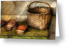 Writer - A Basket And Some Books Greeting Card