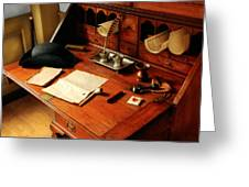 Writer - The Desk Of A Gentleman  Greeting Card