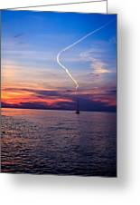 Writing In The Sky Greeting Card