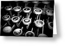 Writing The Great Novel - Black And White Greeting Card