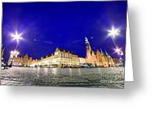Wroclaw Poland Historical Market Square And The Town Hall Greeting Card