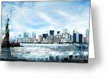 Wrong Expectations New York City Usa Greeting Card by Sabine Jacobs