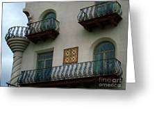 Wrought Iron Balconies Greeting Card