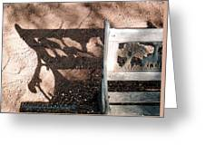 Wrought Iron Bench 1 Greeting Card
