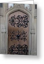 Wrought-iron Door Greeting Card