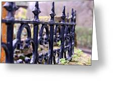 Wrought Iron Fence 1 Greeting Card