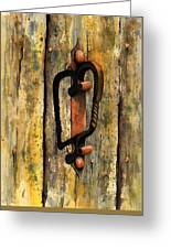 Wrought Iron Handle Greeting Card