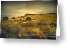 Wupatki National Monument-bench Greeting Card