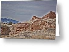 Wupatki National Monument-ruins V15 Greeting Card