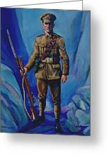 Ww 1 Soldier Greeting Card by Derrick Higgins