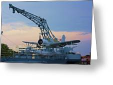 Ww II Sea Plane Greeting Card