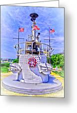 Ww II Submarine Memorial Greeting Card