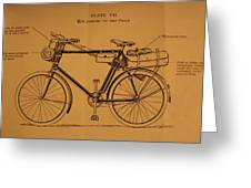 Ww1 Military Bicycle Greeting Card