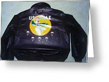 Ww2 Aircraft Jacket Art Greeting Card