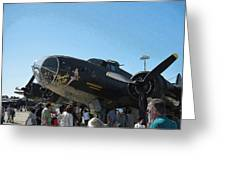 Wwii Memphis Bell B17 Greeting Card