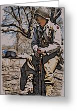 Wwii Soldier Two Greeting Card
