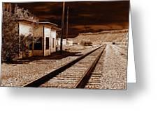Rails West Greeting Card