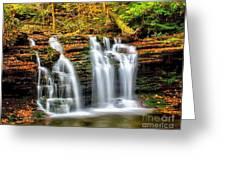 Wyandot Falls Ricketts Glen Greeting Card