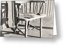 Wylie's Chair Greeting Card by Will Gunadi