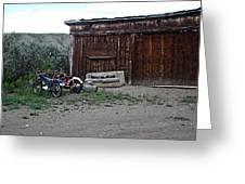 Wyoming Backroads Greeting Card
