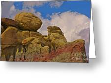 Wyoming Badlands Rock Detail Two Greeting Card