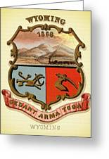 Wyoming Coat Of Arms - 1876 Greeting Card