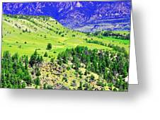 Wyoming Hillside Greeting Card