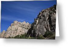 Wyoming Mountain Peaks Greeting Card