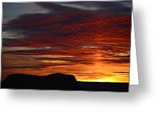 Wyoming Sunset #1 Greeting Card