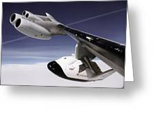 X-38 Spacecraft On B-52 Wing Greeting Card