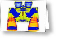 X-ray Of Binoculars Greeting Card