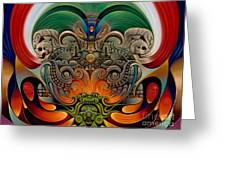 Xiuhcoatl The Fire Serpent Greeting Card
