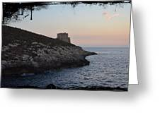 Xlendi At Sunset Greeting Card
