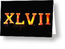 Xlvii Super Bowl Sign Greeting Card by Photography  By Sai