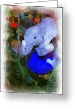 Xmas Elephant Ornament Photo Art 02 Greeting Card