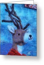 Xmas Reindeer 01 Photo Art Greeting Card