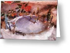 Xmas Skating Rink Photo Art Greeting Card