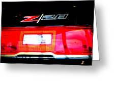 Xxl Chevrolet 2014 Z28 Tail Light Greeting Card